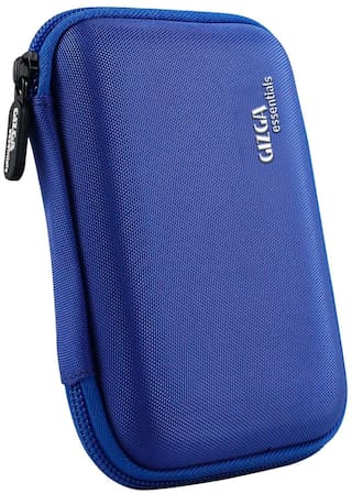 Gizga Essentials External Hard Drive Case for 6.35 cm (2.5 inch) Hard Drive - Double Padded (Blue)