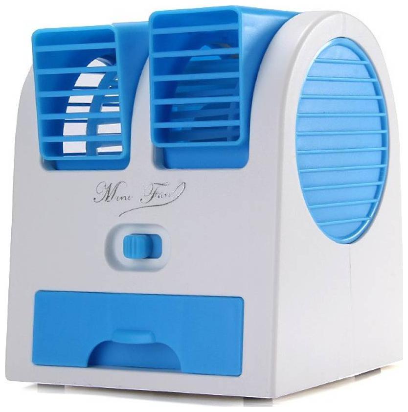 Glowtronix Mini USB Fragrance Air Conditioner Cooling Fan  Blue