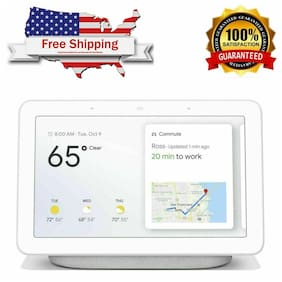 Google Home Hub Voice-Activated Assistant- Smart Touchscreen-Chalk White