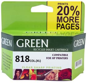 Green 818 Ink Cartridge (Multi Color)