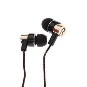 High Quality Sport In Ear Line Stereo Gold Metal Earphone # International Bazaar