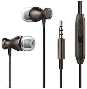 Mobilife magnetic in-ear wired earphone with extra bass Black