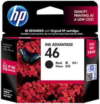 HP 46 Black Ink Advantage Cartridge