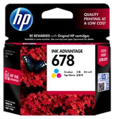 HP 678 TRI COLOR INK CARTRIDGE
