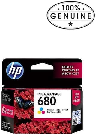 HP 680 Tri-color Ink Advantage Cartridge
