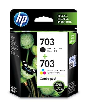 Hp 703 Combo Ink Cartridge (Black / Tri-Color)
