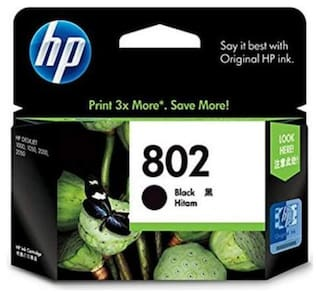 hp 802 high capacity, black ink cartridge for compatible in deskjet 2050 and 3050 printer