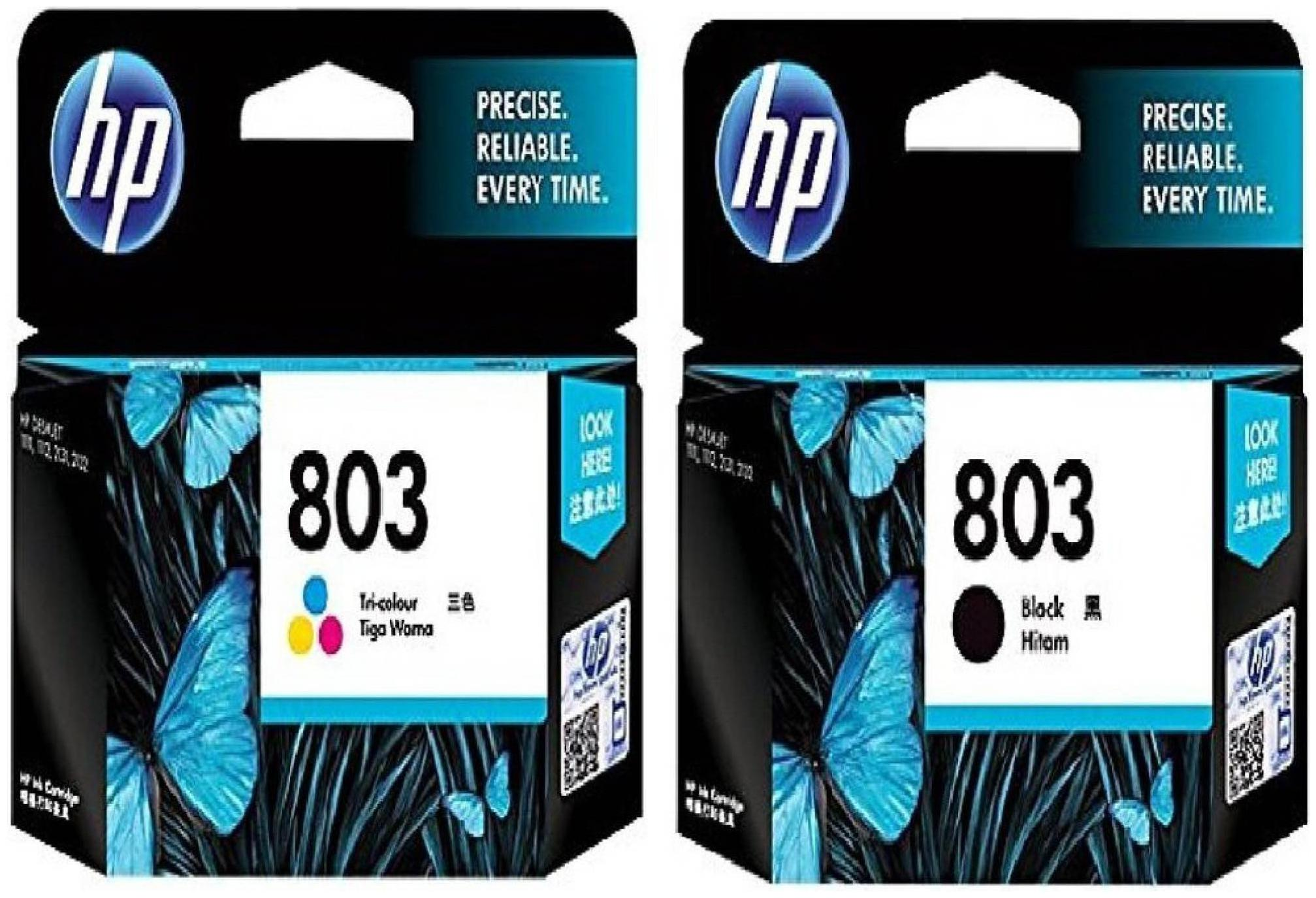 HP 803 Black + Tri Color Combo Original Ink Cartridge
