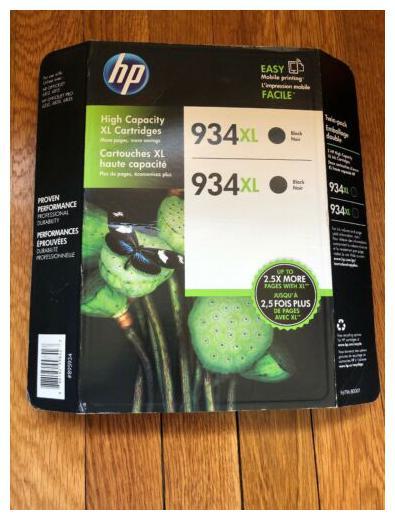 HP 934XL High Yield Black Ink Cartridge C2P23AN Sealed ONLY 1 Cartridge