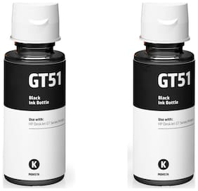 HP GT51 Ink Pack Of 2 Single Color Ink  (Black)