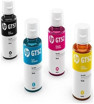 HP InkJet HP GT51 Original Ink  (Magenta, Black, Yellow, Cyan)