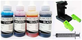 White Sky HP Printer 680 Cartridge Refill Ink with Suction Tool 300ml (75ml x 4 CMYK) with Syringes