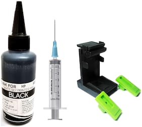 White Sky HP Printer Black Refill Ink 100ml with Suction Tool and Syringe