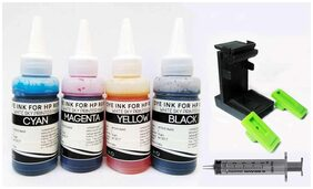 White Sky HP Printer Refill Ink with Suction Tool for HP 3775 - 300ml (75ml x 4 CMYK) Premium Quality with 4 Syringes