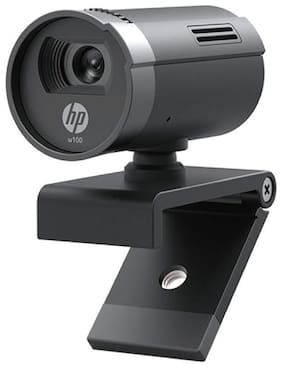 HP w100 480p/30 Fps Webcam Built-in Mic, Plug and Play, Wide-Angle View for Video Calling, Skype, Zoom, Microsoft Teams
