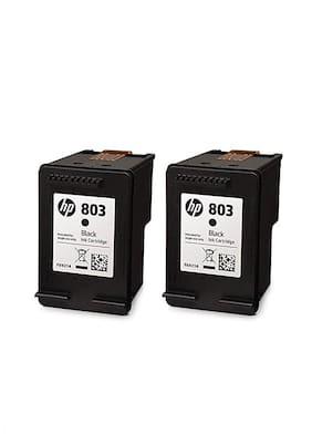 HP X4E77AA 803 Black Ink Cartridge - Twin Pack
