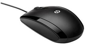 HP X500 USB (Wired) Optical Mouse (Black)