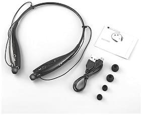 Altronics Premium Quality Neck-Around Stereo Sports Wireless Joggers Headphone In-Ear Bluetooth Headset ( Black )