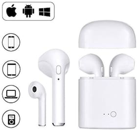 I-Birds I7S Tws Wireless Bluetooth Earphone Stereo Twin Portable With Advanced Noise Cancellation Technology Best Sound Quality With Charging Box