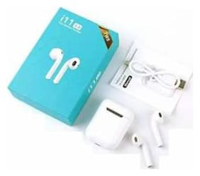 ONE94STORE i11 5.0 Bluetooth Airpod Earphone with Portable Charging Case for Android/iOS Devices with Sensor. True Wireless Bluetooth Headset ( White )