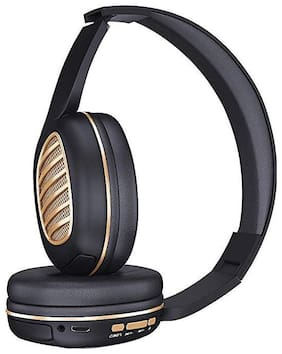 iBall Decibel bt01 On-ear Bluetooth Headsets ( Black & Gold )
