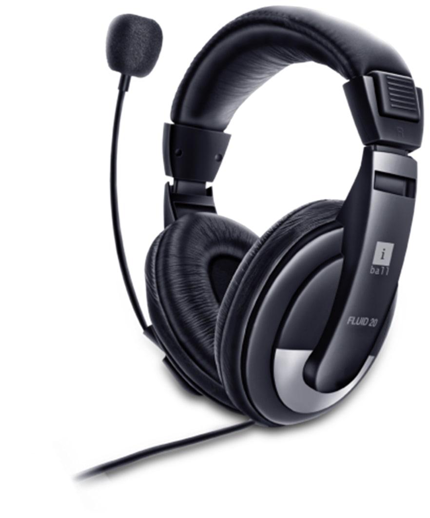 iBall Fluid Headphones (Black)