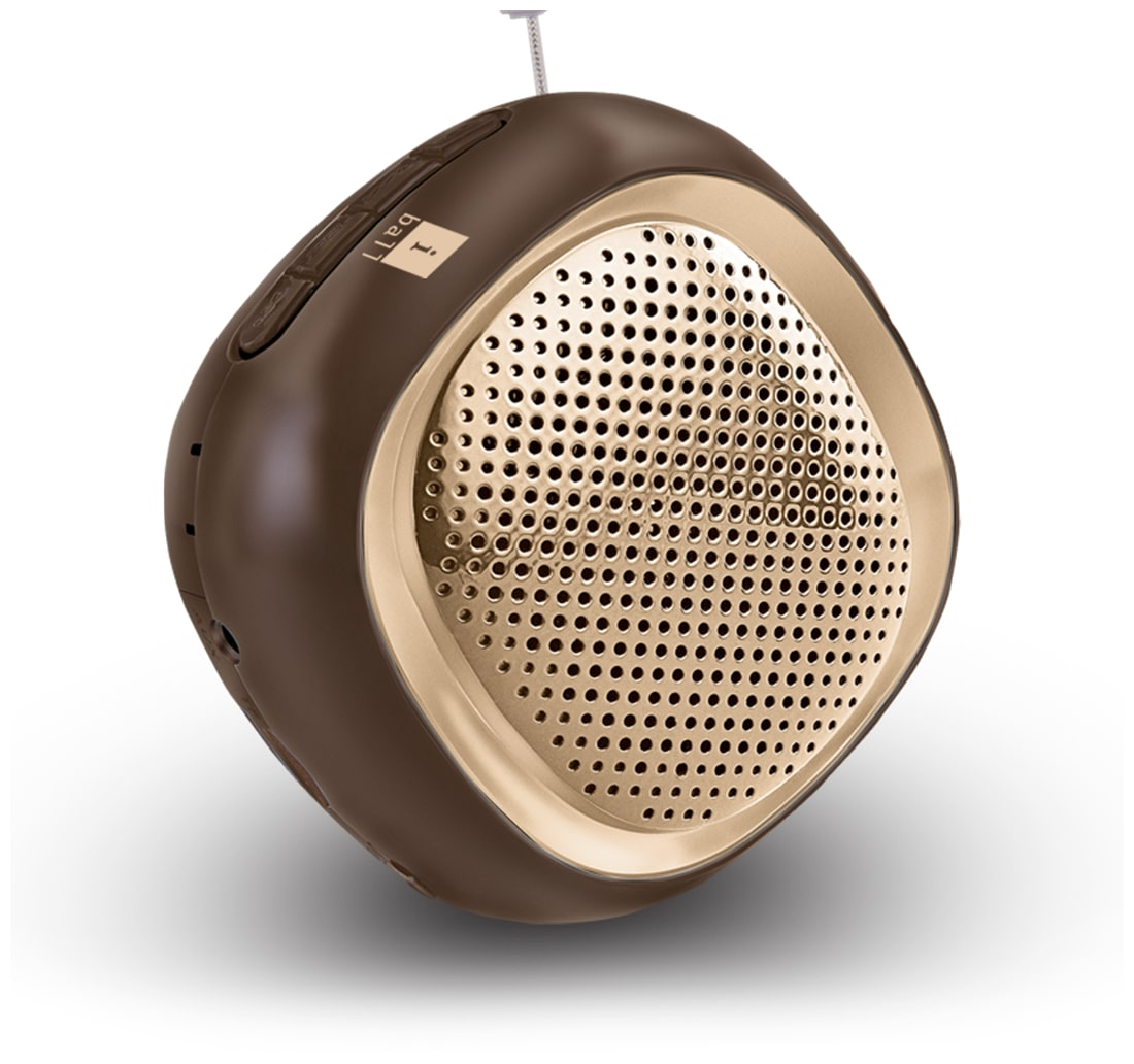 iBall Musi Cube BT20 Bluetooth Spealer (Brown)