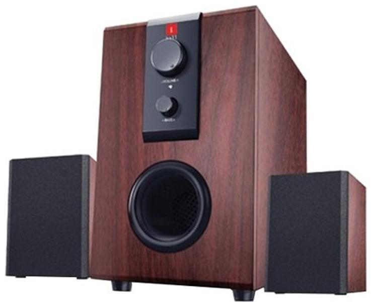 iBall RAAGA Q9 Wired 2.1 Speaker   Brown   by Bozz World