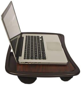 IBS Portable Foam Cushion Base Wooden Lap 4 Desk Table LA2 Laptop Stand (Color-Brown)