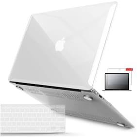 IFyx Clear Finish Hard Protective Shell Case Cover Skin For Macbook Air 13 Inch A1369 / A1466 (2010-2017) + Keypad + Screen Guard