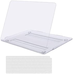 iFyx Hard Shell Crystal Case Cover, Silicon Keyboard & Dust Plugs for New MacBook Air 13 Inch 2020 2019 2018 Release A2179 / A1932 with Retina Display  & Touch ID