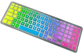 """Ifyx Silicone Keyboard Skin Cover for Dell Inspiron 15 3000 series 3541 3542 3543 3551 3552 3558 3559 3565 3567 3568 3576 15.6"""" Laptop (Rainbow)"""