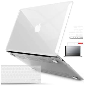 IFyx Soft Touch Clear Hard Protective Shell Case Cover Skin For Macbook Air 13 Inch A1369 / A1466 (2010-2017) + DustPlugs + Keypad + Screen Guard