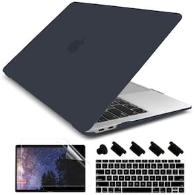 IFyx Soft Touch Matte Hard Protective Shell Case Cover Skin For New MacBook Air 13 Inch with Touch ID A1932 / A2179 (2018-2020) + DustPlugs + Keypad + Screen Guard