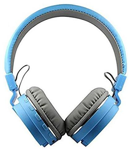 IMMUTABLE Wireless Bluetooth Headphone with FM and SD Card Slot IMT414 Over Ear Bluetooth Headset   Blue