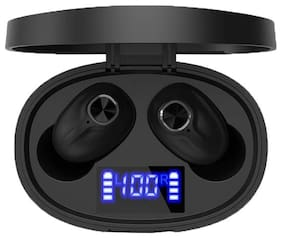 IMMUTABLE R-857 Wireless Bluetooth V5.0 Earbuds w LED display In-Ear Bluetooth Headset ( Black )