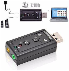 Imported External USB Audio Sound Card Adapter 3D Virtual 7.1CH For PC Laptop Win 7 8