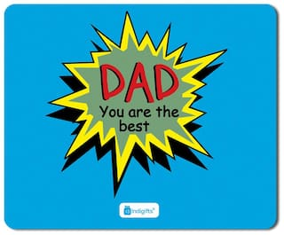Indigifts Fathers Day Gifts Dad You Are Best Quote Blue Mouse Pad 85x7 Inches
