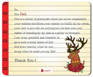 Indigifts Fathers Day Gifts Expression Of Gratitude Quote Handwritten Letter Style Cream Mouse Pad 85x7