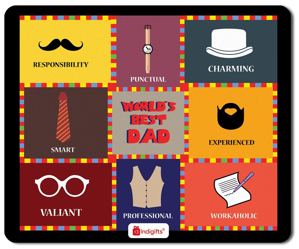 Indigifts Father Birthday Gifts Worldu0027s Best Dad Quote Colourful Checks Graphic Multi Mouse Pad 8.5x7  sc 1 st  Paytm Mall & Buy Indigifts Father Birthday Gifts Worldu0027s Best Dad Quote Colourful ...