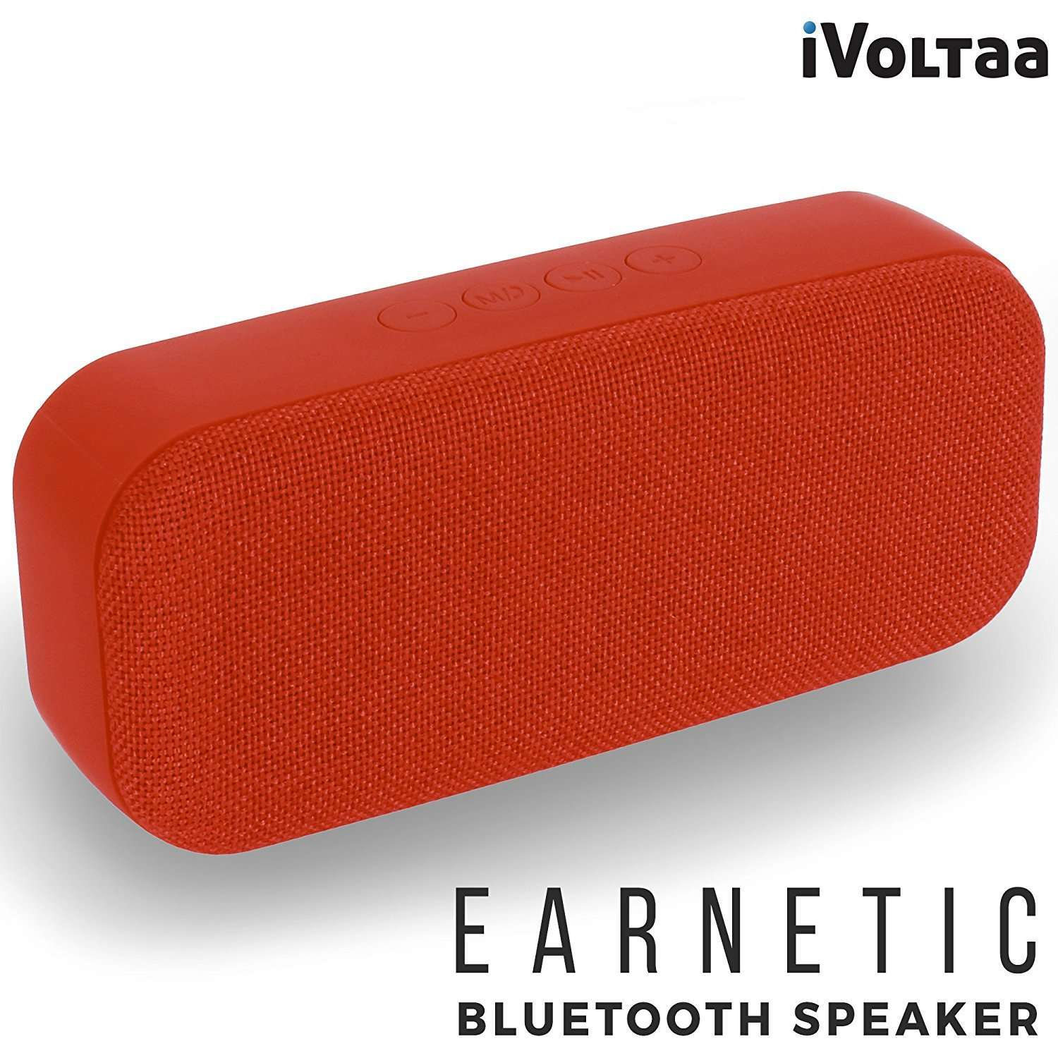 iVoltaa Earnetic Portable Wireless Bluetooth Speaker with Aux USB Pendrive Micro SD Card slot Mic (Red)