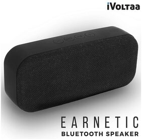 iVoltaa Earnetic Portable Wireless Bluetooth Speaker with Aux, USB Pendrive, Micro SD Card slot, Mic (Black)