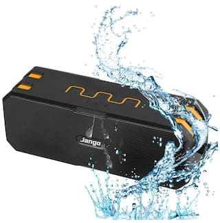 Jango F4 12 Watts Waterproof Portable Bluetooth Speaker With 16 Hour Backup (Yellow,Black)