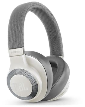 JBL E65BTNC Headphones (White)