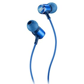 JBL Live 100 In-Ear Headphones with In-Line Microphone and Remote (Blue)