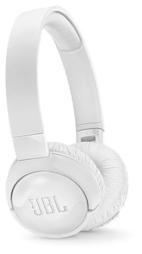 JBL Tune 600 BTNC On-Ear Wireless Bluetooth Noise Canceling Headphones (White)
