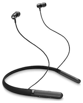 JBL Live 200 BT Wireless In-Ear Neckband Headphones with Three-Button Remote and Microphone (Black)