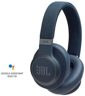 JBL Live 650BTNC Over-Ear Bluetooth Headset ( Blue )