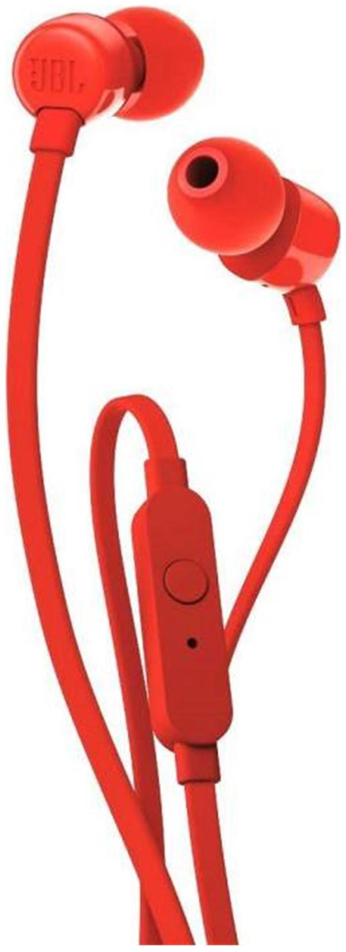 JBL T110 In Ear Headphones  Red