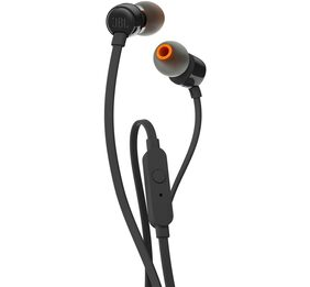 JBL T110 Pure Bass In Ear Earphones With Mic (Black)